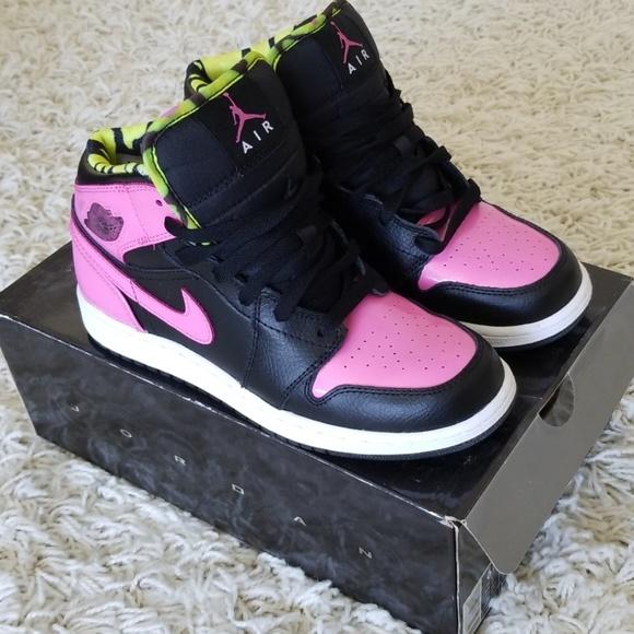 Rare Nike Air Jordan 1 Phat black and pink Shoes